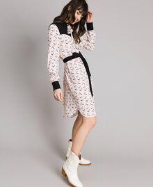 Robe chemisier avec imprimé flamants roses Imprimé Flamant Femme 191TP2760-02