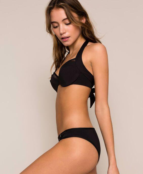 Underwire tulle bikini top