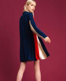 Maxicárdigan en mezcla de lana y alpaca Rojo «Coral» / Azul / Beige Mujer 192MT3073-03