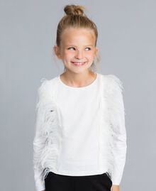 Cotton t-shirt with feathers Off White Child GA827B-0S