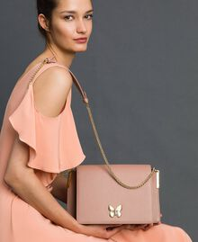 Large Bea leather shoulder bag Mousse Pink Woman 192TA7020-0S