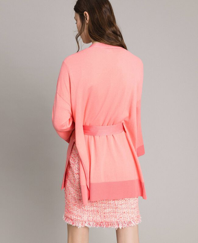 "Cashmere blend cardigan ""Wild Rose"" Pink Woman 191TP3064-03"