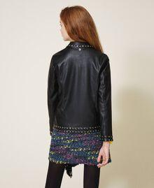 Куртка из искусственной кожи со звездочками Черный Pебенок 202GJ2830-03