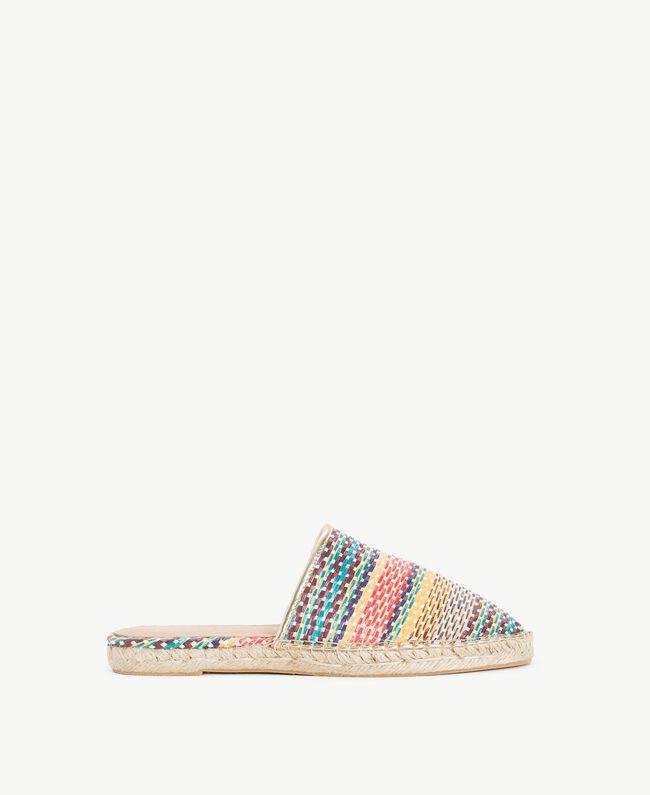 Striped slippers Multicolour Stripes Woman MS8Z55-01