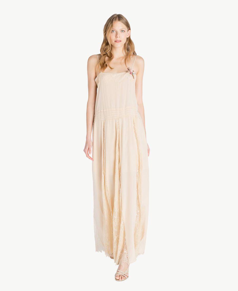 Silk dress Ecrù Woman PS82EA-01