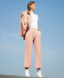 "Trousers with folded hem and stitching ""Vintage"" Pink Woman 202ST2023-01"