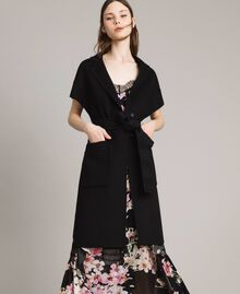Double wool cloth waistcoat Black Woman 191TP2482-01