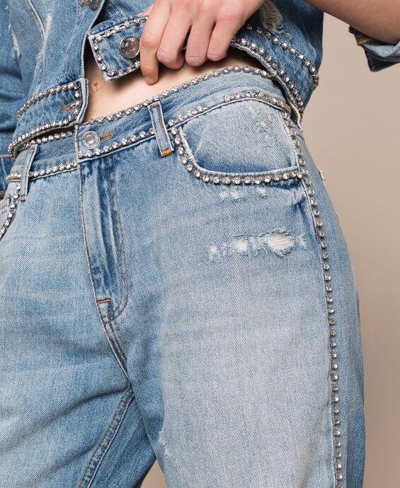 Rhinestone Girlfriend jeans