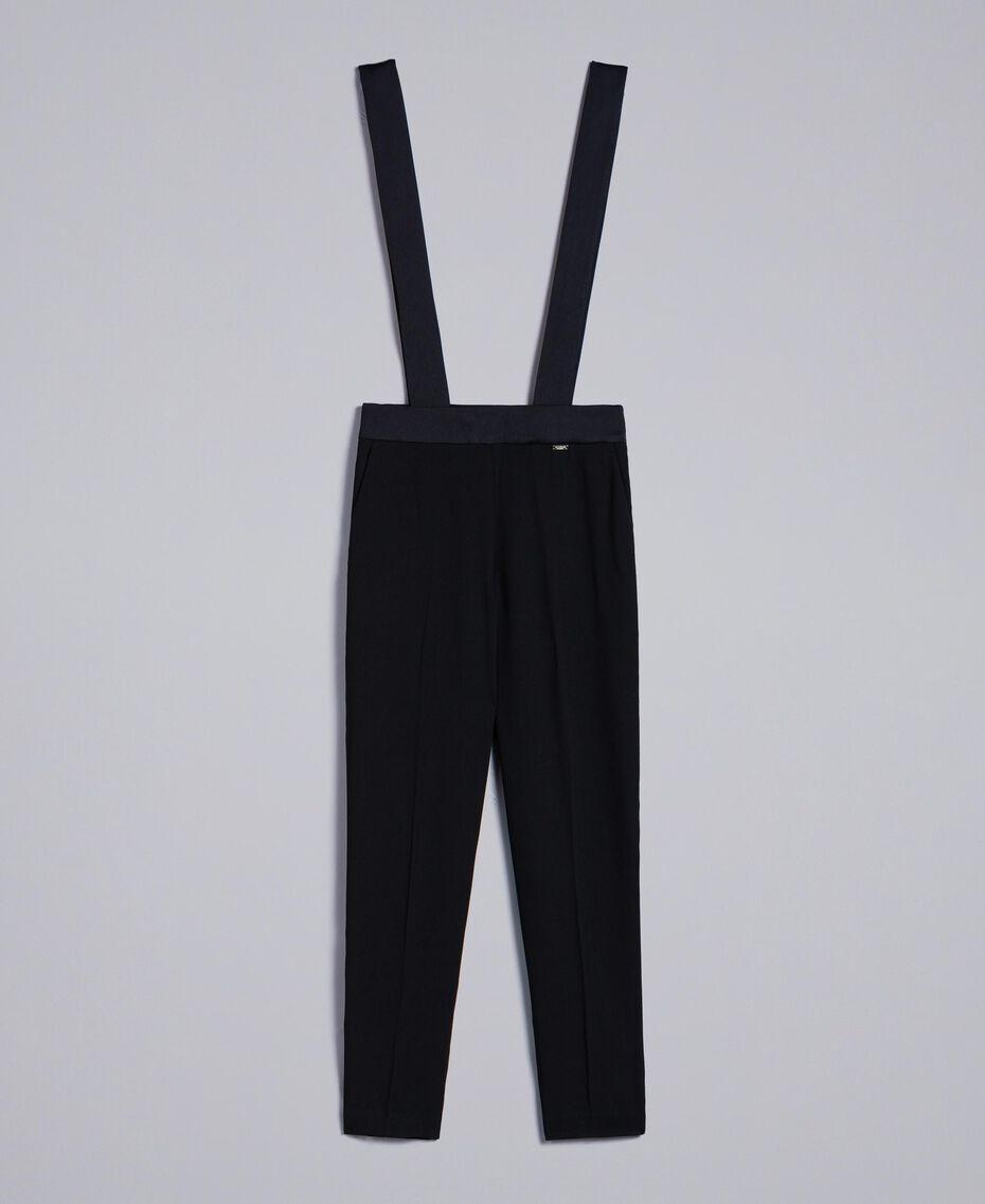Drainpipe trousers with braces Black Woman SA82DE-0S