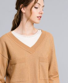 "Lurex yarn jumper ""Amber Dust"" Brown Woman IA82LL-04"