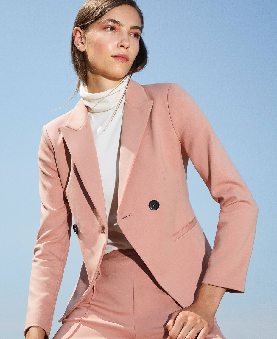 """Double breasted two-button blazer """"Vintage"""" Pink Woman 202ST2020-01"""