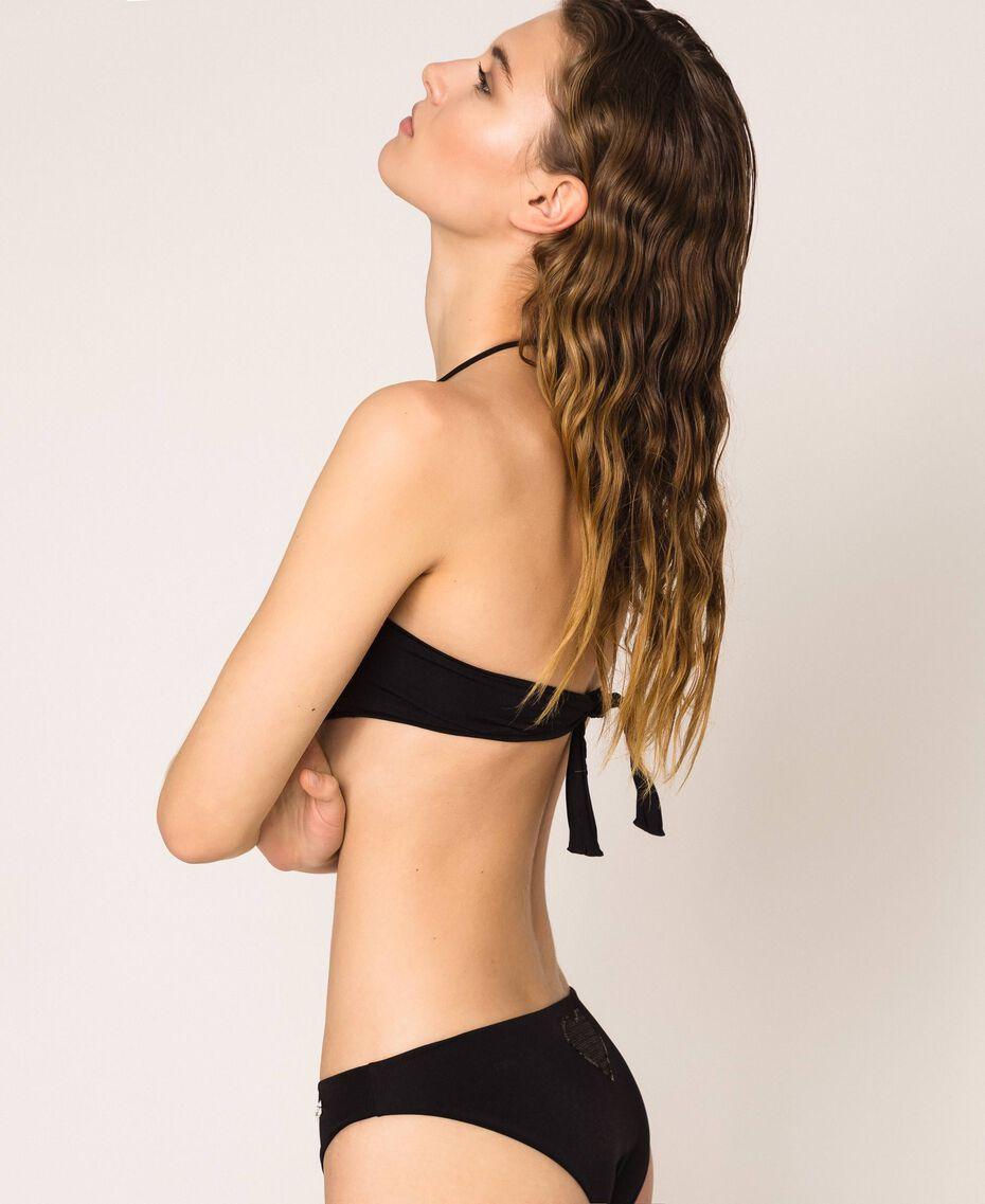 Soutien-gorge de bain bandeau avec sequins Imprimé Flirty Rose Femme 201LBMC11-02