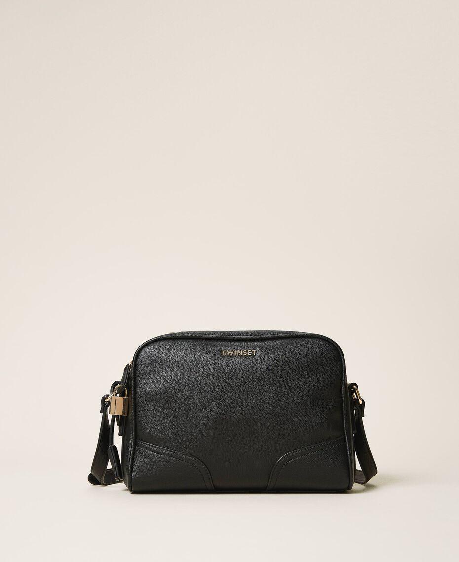 Shoulder bag with dual compartment Black Woman 202TB7032-03