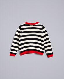 Striped wool blend jumper Bicolour Black / Off White Child FA83GA-0S