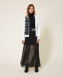 Long skirt with tulle Black Woman 202LI2NMM-0T