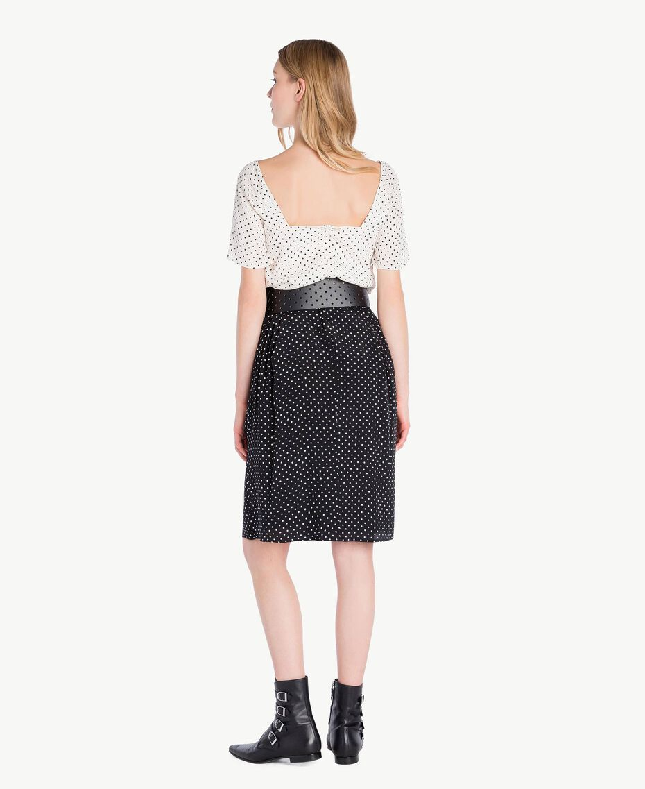Polka dot dress Black Polka Dot Print / Ivory Polka Dot Print Woman PS82MN-03