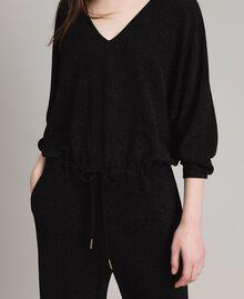 Combinaison en lurex avec manches kimono Noir Femme 191MP2020-04