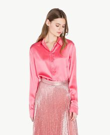 "Silk shirt ""Doll"" Fuchsia Woman PS825D-01"