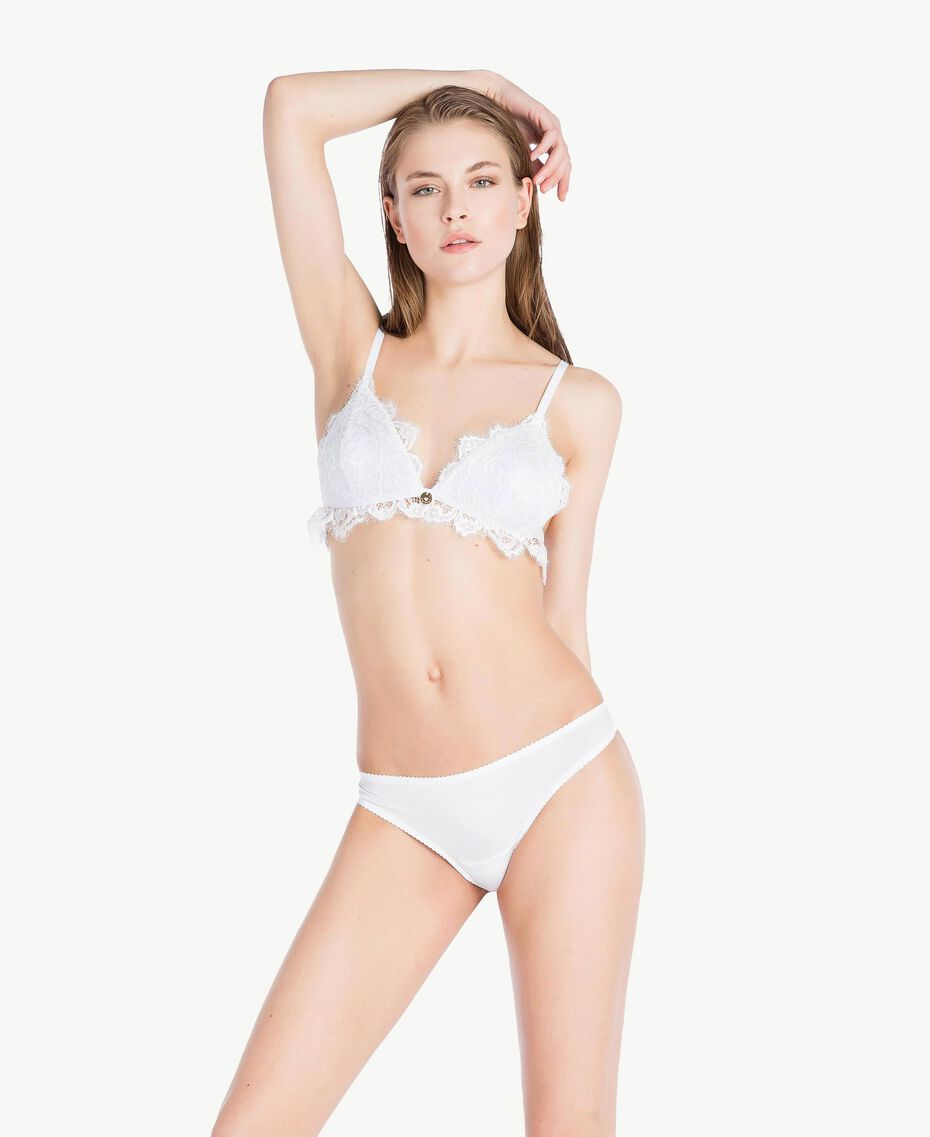 Solid thongs Ivory Woman LS8C88-02