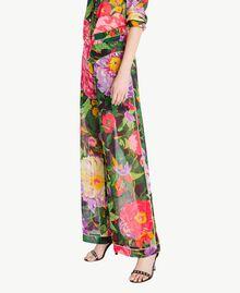 "Hose mit Print ""Summer Garden""-Print Frau TS8244-02"