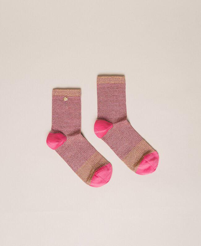 Короткие носки с люрексом Разноцветный Люрекс Вишня женщина 201TA4412-01