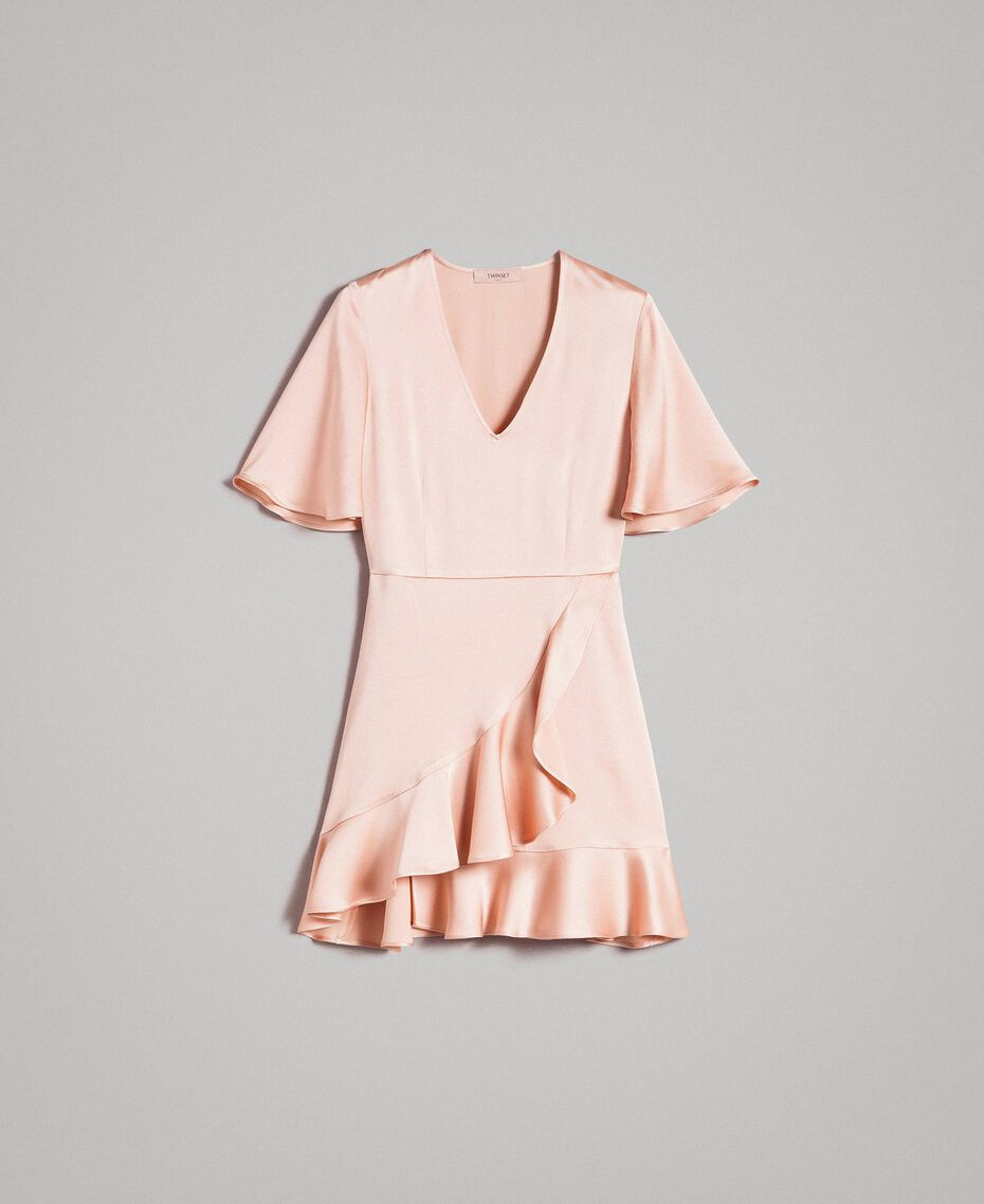 "Flounce and ruffle dress ""Nude"" Beige Woman 191TP2697-0S"