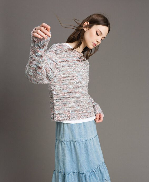 Multicolour lurex jumper