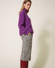 Maglia in misto mohair Shiny Purple Donna 202TT3261-02