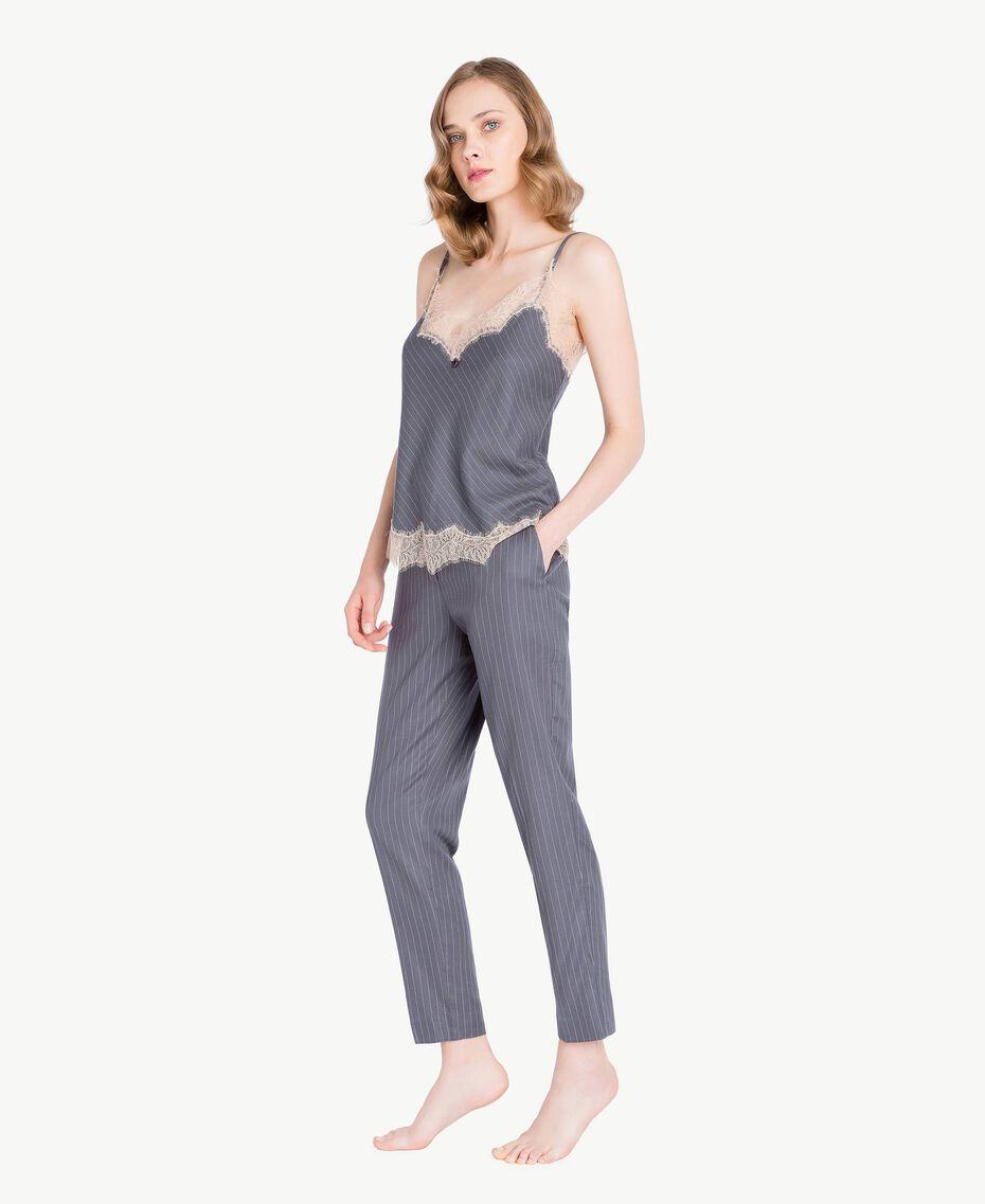 Pantalon rayures Gris Rayé Femelle LA7GJJ-03