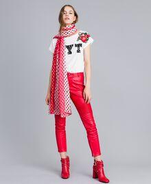 Écharpe imprimée à pois Imprimé Pois Rose Chic Femme VA8P1H-0T