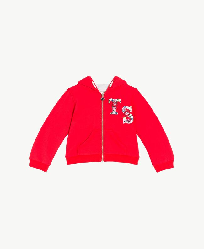 Sweat-shirt logo Bicolore Rouge Grenadier / Fleurs Chantilly Enfant FS82SN-01