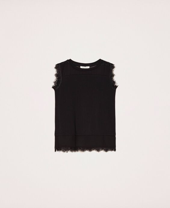 Georgette top with lace
