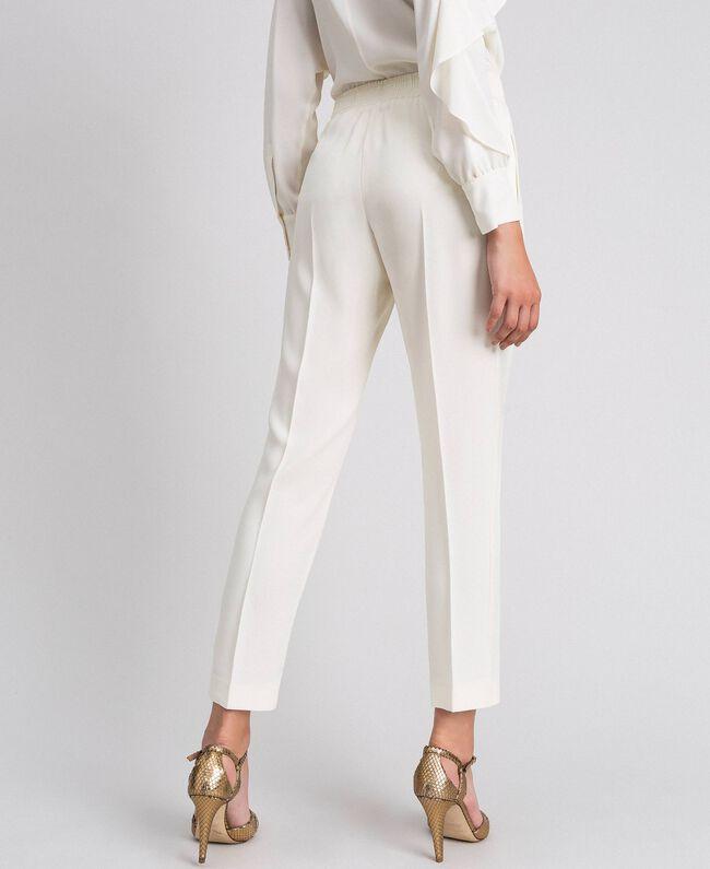 Pantalon en cady Blanc Neige Femme 192TT2292-04