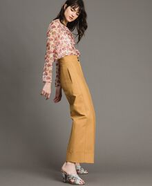 """Technical cotton trousers """"Mid Tan"""" Brown Woman 191TP2181-03"""