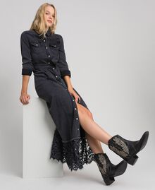 Texas ankle boots with embroidery Black Woman 192TCT06C-0S