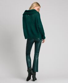 "Pantaloni a sigaretta in similpelle Verde ""Forest"" Donna 192ST2017-03"