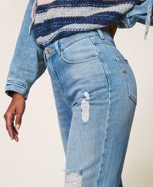 Стандартные джинсы с прорехами Деним Светлый женщина 202MT2310-05
