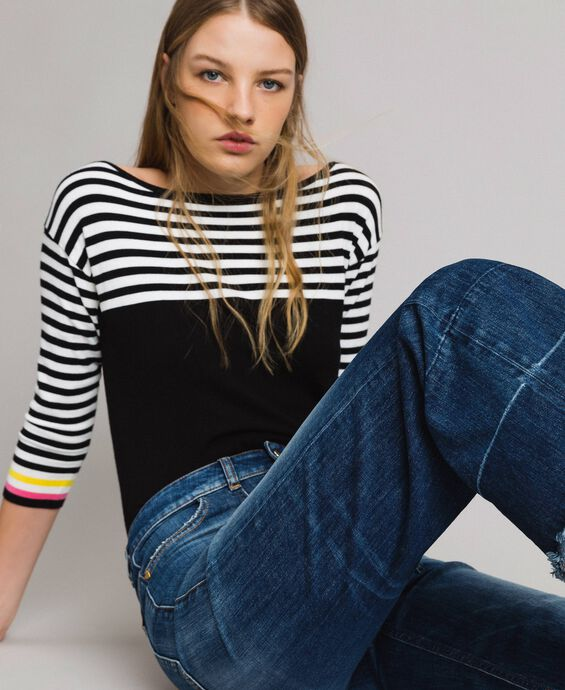 Fatigue-Jeans mit hoher Taille