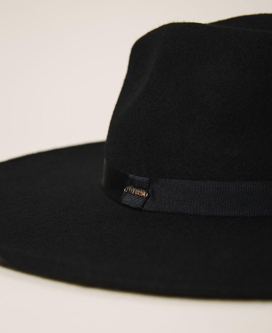 Широкополая шляпа с лентой Черный женщина 202TA4453-02