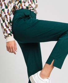 Pantalon cigarette Vert Foncé Femme 192TP2091-03
