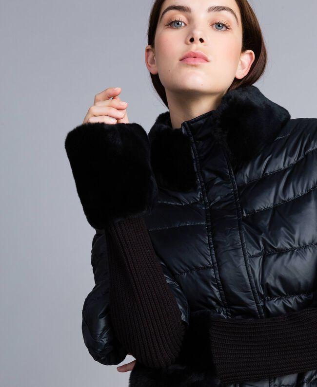 Doudoune courte en nylon brillant Noir Femme TA82C2-01
