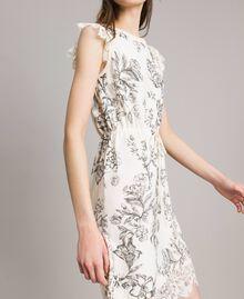 Robe en maille fantaisie Gros Imprimé Fleur Noir Femme 191TT3180-03