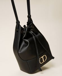 Bucket bag with logo Black Woman 212TB7092-02