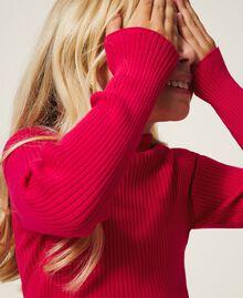 Gerippter Stehkragenpullover Pink Gloss Kind 202GJ3690-04