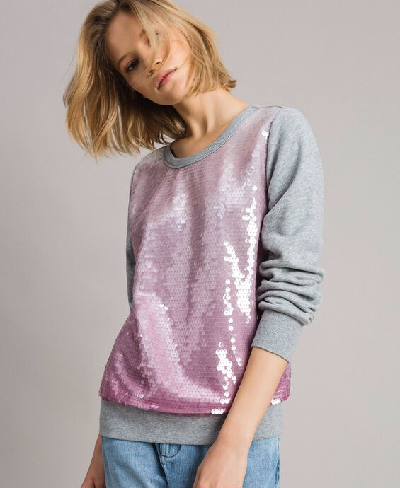 Sweat-shirt avec sequins dégradés