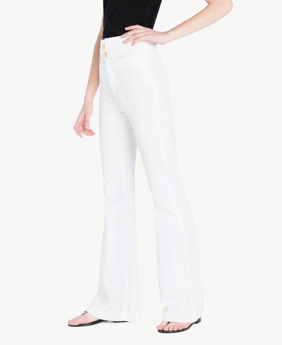 Pantalón de algodón Blanco Mujer TS82GA-02