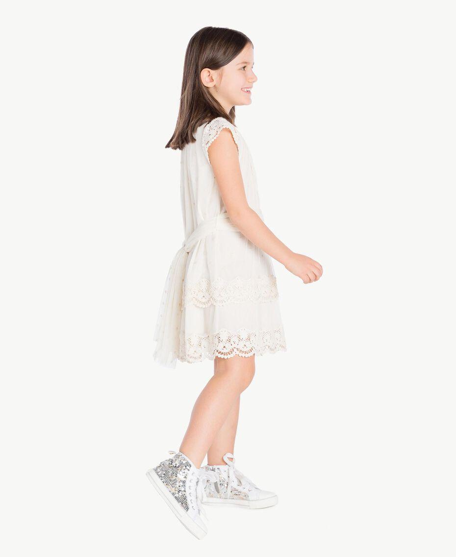Lace dress Pale Cream Child GS8LAN-03