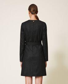 "Lurex pin striped dress with belt Black / ""Lurex"" Gold Pin Stripe Woman 202TT2176-04"