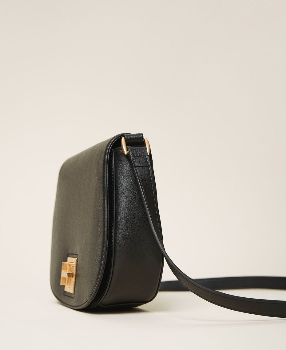 Leather shoulder bag Black Woman 202TD8041-02