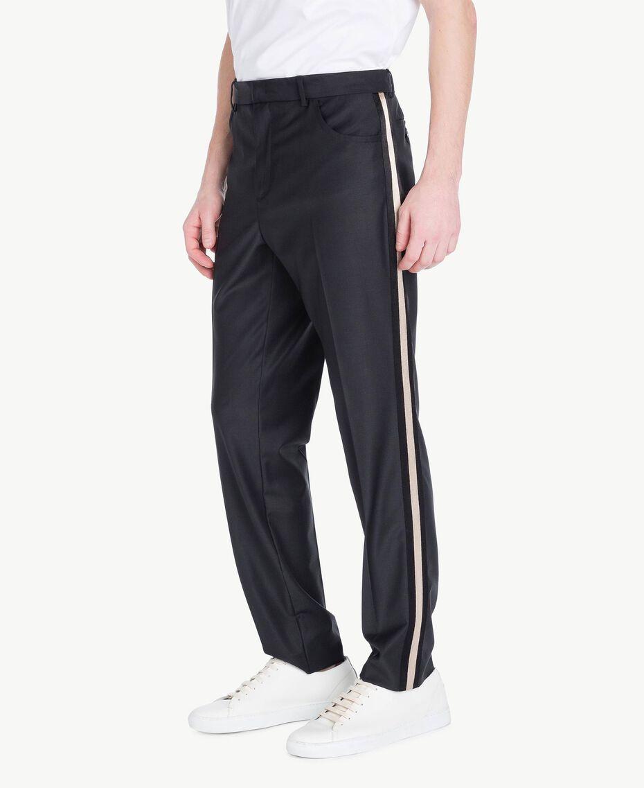 Pantalon cigarette Noir Homme US8241-02